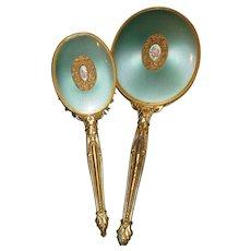 Lovely vintage brush and mirror vanity set