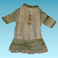 Charming vintage doll dress for small antique bisque doll