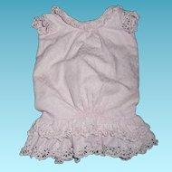 Wonderful antique original pique pink dress for antique german or french doll