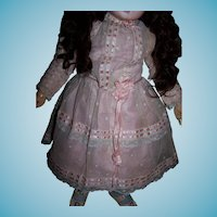 Exquisite antique doll dress for german or french doll