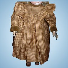 Gorgeous antique original silk and velvet antique german or french doll dress