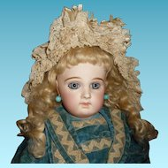 Large exquisite antique portrait Jumeau bebe french doll
