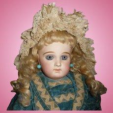 Large exquisite antique portrait Jumeau bebe french doll