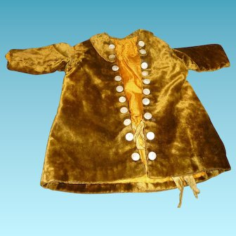 Wonderful antique coat dress for german or french antique doll