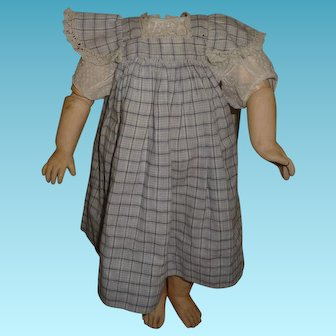 Beautiful antique doll dress- pinafore and blouse set for antique german or french doll