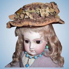 Spectacular antique elaborate original doll bonnet