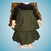 Beautiful original antique doll dress in larger size