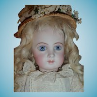 Most beautiful antique first series portrait Jumeau bebe french doll size 1