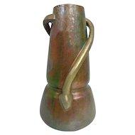 Huge Antique (1900) Clement Massier Golfe-Juan Coiled Snake Luster Vase - France