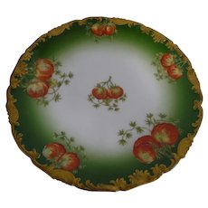 "Twelve Limoges T&V Hand Painted Ovington Bros. France 8-1/2"" Fruit Plates"