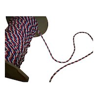 Tiny vintage red, white, and blue rayon cord 1930s