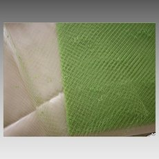 Vintage Lime Parfait silk veiling