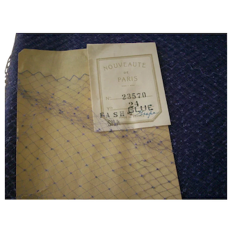 Silk Vintage veiling in Blue Grape 1920s to 30s