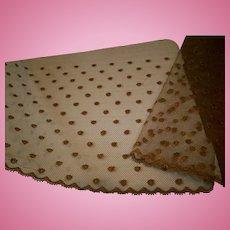 Pure silk cocoa polka-dot lace 1880s