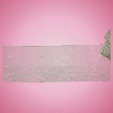 Vintage pure cotton lace French mini design