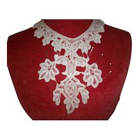 Hand done antique lace collar doll dressing