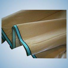 19th century silk velvet in Golden Pear