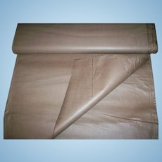 Vintage polished cotton used often in doll clothing as lining in tan