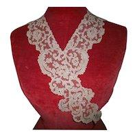 Deep beige color vintage lace pure cotton 1920s collar