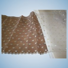 Pure silk oyster pearl polka-dot lace 1880s