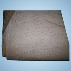 Chocolate silk point de esprit veiling with tiny pattern