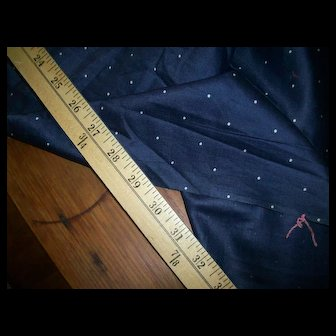 """Polka dot pure cotton vintage 29"""" wide doll clothing supplies"""