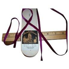 Magenta antique silk velvet ribbon yardage