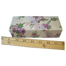 Vintage candy box lavender roses