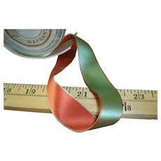 Double sided two tone antique silk satin ribbon
