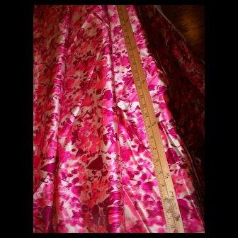 Vintage watered silk fabric unused