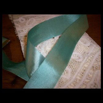 Antique very old silk ribbon