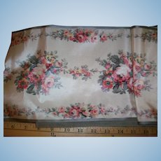 "Lovely antique watered silk ribbon 7 1/2"" wide"