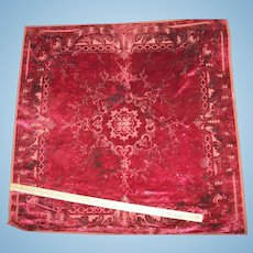 Antique cloth perfect for a doll house carpet