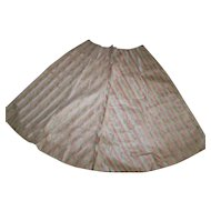 Gorgeous watered silk skirt piece antique