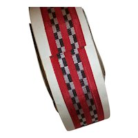 Antique small scale novelty ribbon