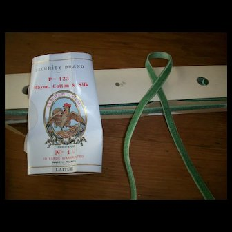 """Lovely antique silk velvet 1/4"""" narrow satin back ribbon"""
