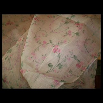 """Antique French cotton fabric 29"""" wide"""
