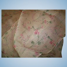 "Antique French cotton fabric 29"" wide"