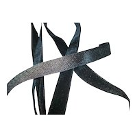 French Silk/rayon antique black velvet ribbon available in various widths