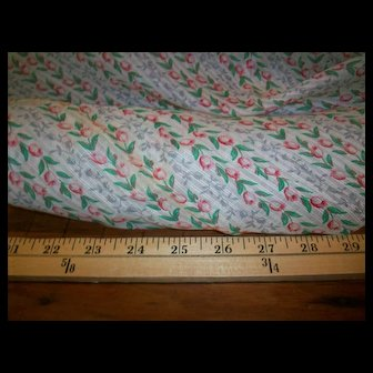 """Vintage cotton sheer fabric 35"""" wide"""