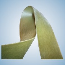 Color of Nile silk velvet antique ribbon of the finest quality