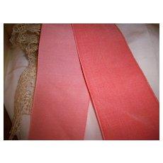 Antique silk and cotton velvet ribbon