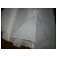 Vintage cotton organdy in white