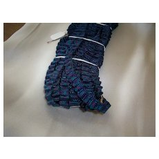 Rare pleated trim for doll clothing