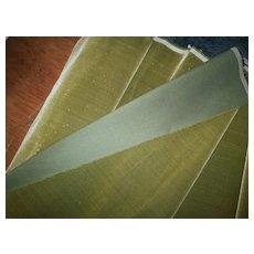 19th century silk velvet in Moss Dust