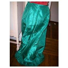 Antique silk skirt for making doll's dress