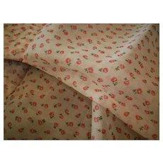Cotton Organdy Print vintage small design