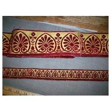 Trim from an antique velvet silk