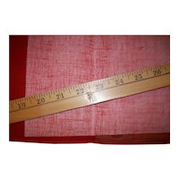 """Red antique tarlatan for doll clothes and stiffener 36"""""""