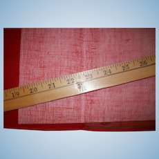 Red antique tarlatan for doll clothes and stiffener 36""